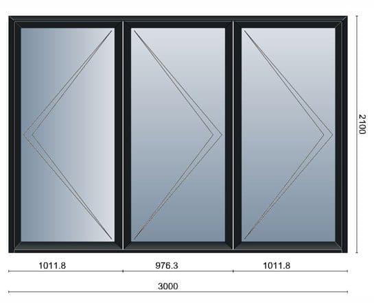 Bi-Folding Doors (3 Pane)