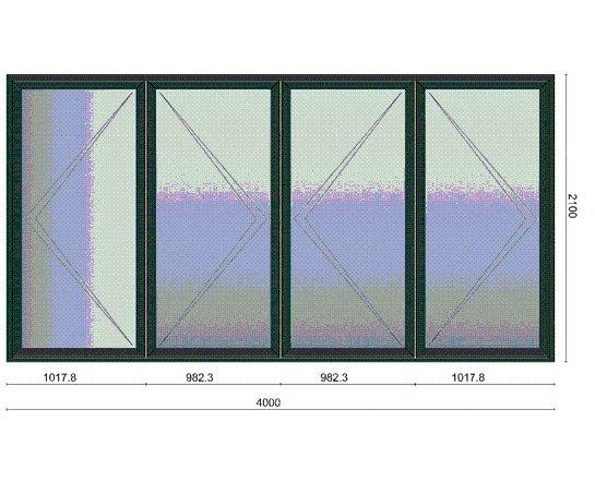 Bi-Folding Pane (4 Pane)