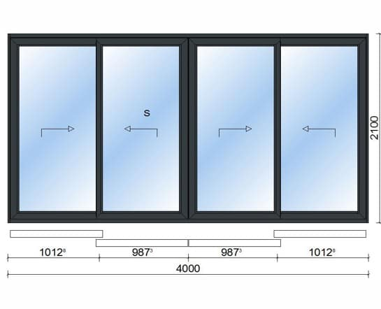 Sliding Doors (4 Pane)